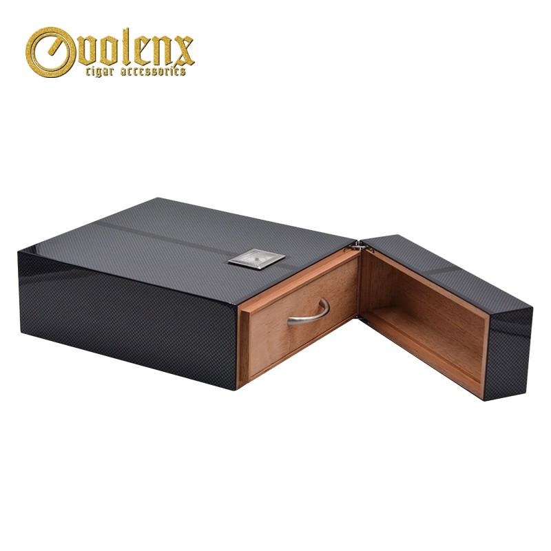 High quality unique design spanish cedar wood  cigar humidor box 9