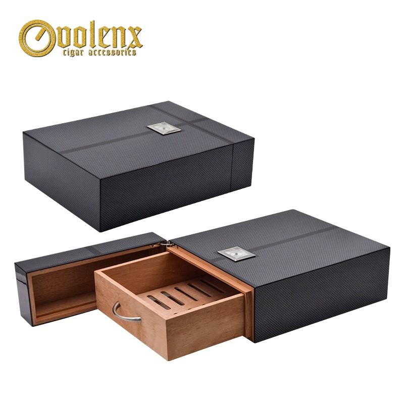 High quality unique design spanish cedar wood  cigar humidor box 3