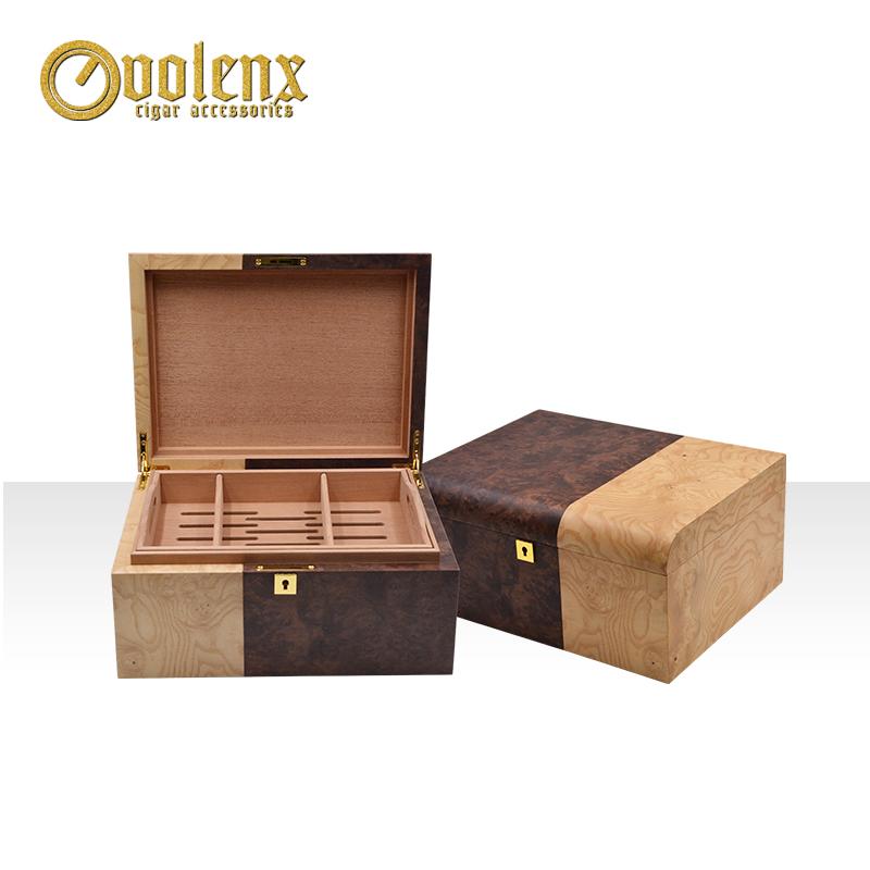 Wholesale custom handmade wooden cigar humidors box