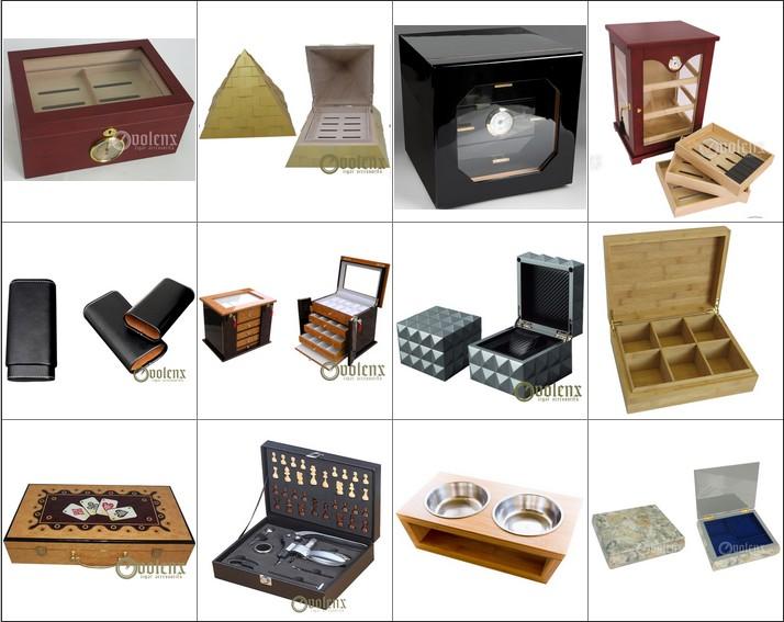 Custom Spanish Cedar Wood  Humidor Hold 50 Cigars Humidor Cigar Storage Supplier 15