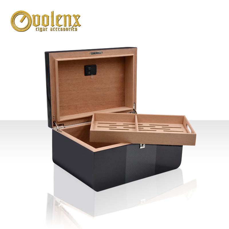 Wholesale Factory Display Cigar Wooden Humidor Box