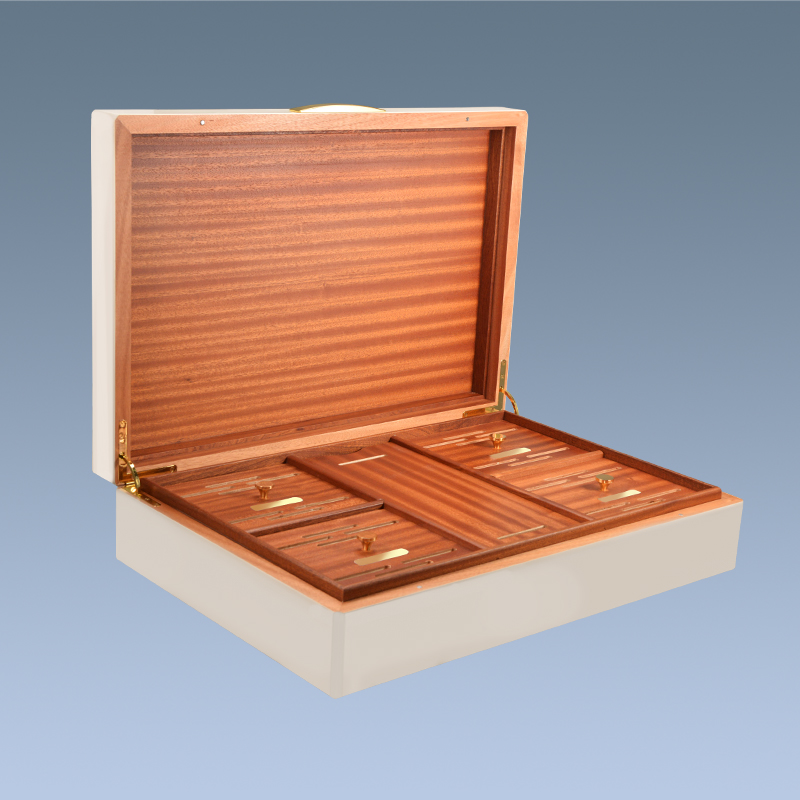 2017 high-end large wooden cigar boxes Fancy humidor with tray