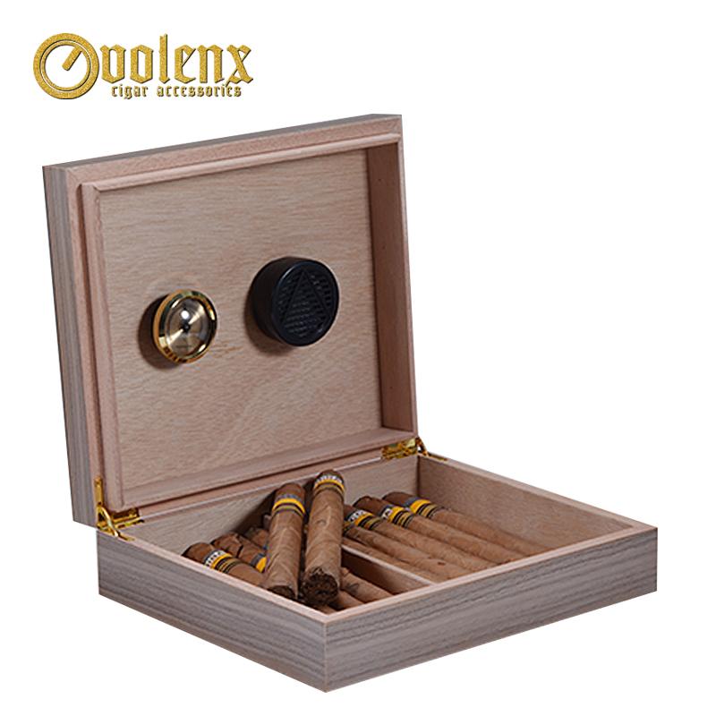 Custom cigar boxes wood 10-20 Cigars Design Luxury Black Cigar Box