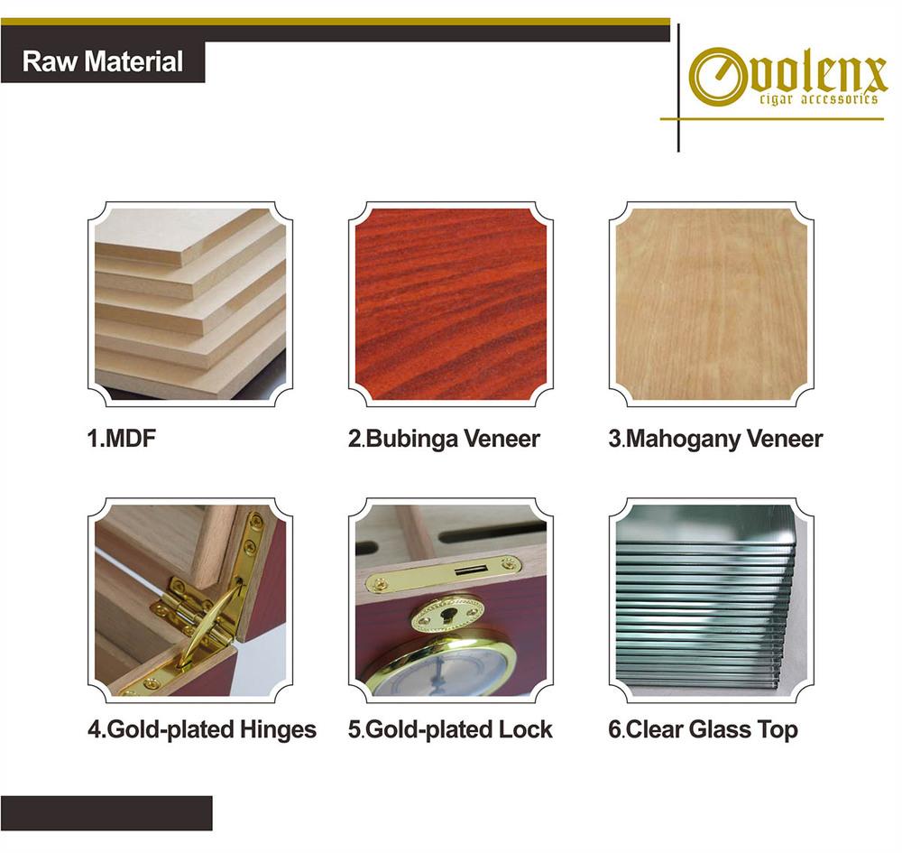 Custom cigar boxes wood 10-20 Cigars Design Luxury Black Cigar Box 11