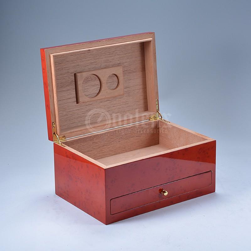 Wholesale matt  high quality humidifier humidor  wooden spanish cedar cigar box 17