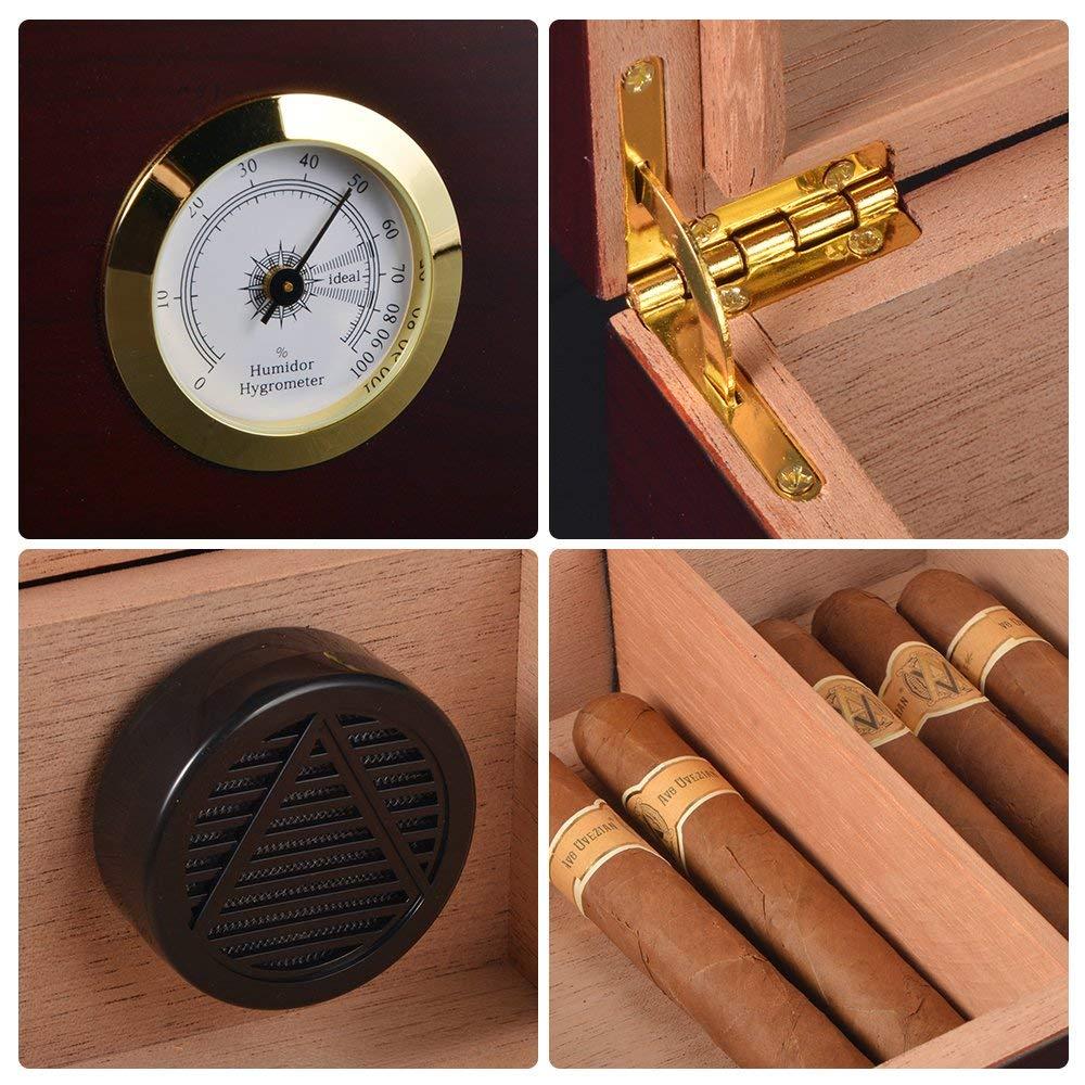 Glass Top Cigar Box WLHG-0038 Details 3