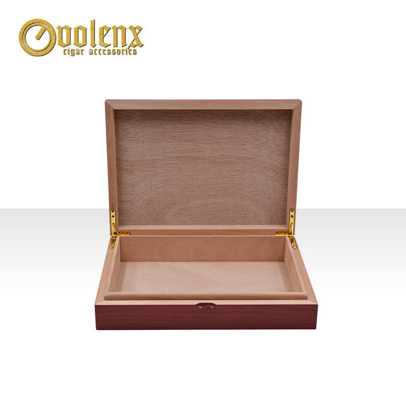 Custom-Red-Empty-Wooden-Cigar-Display-Box