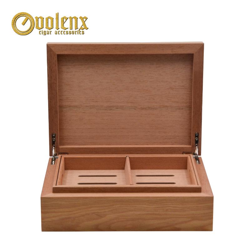 Quality-Cherry-Wood-Humidor-Photopaper-Cigar-Storage