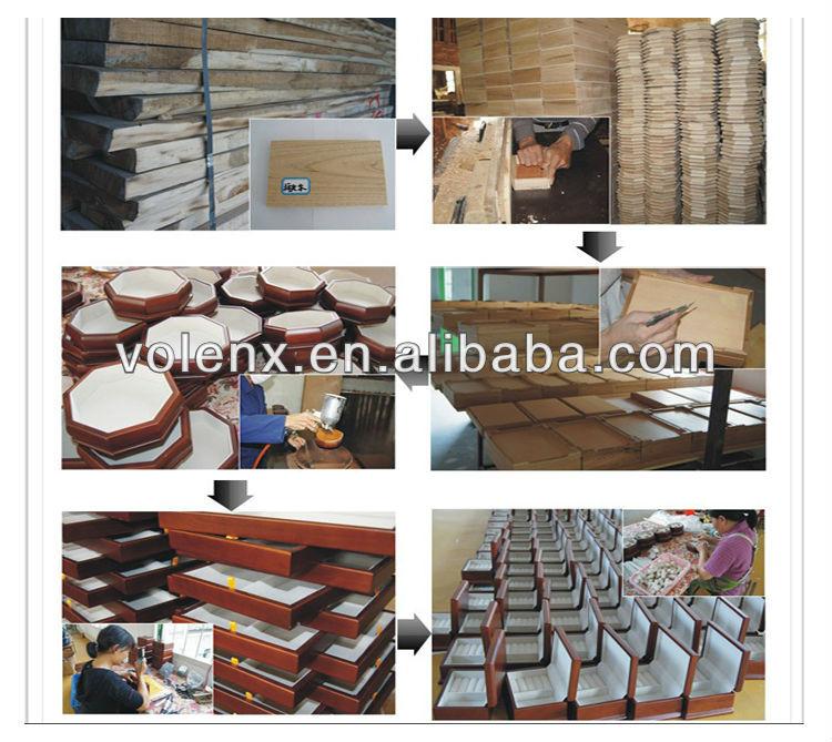 Quality Cherry Wood Humidor Photopaper Cigar Storage Box 15