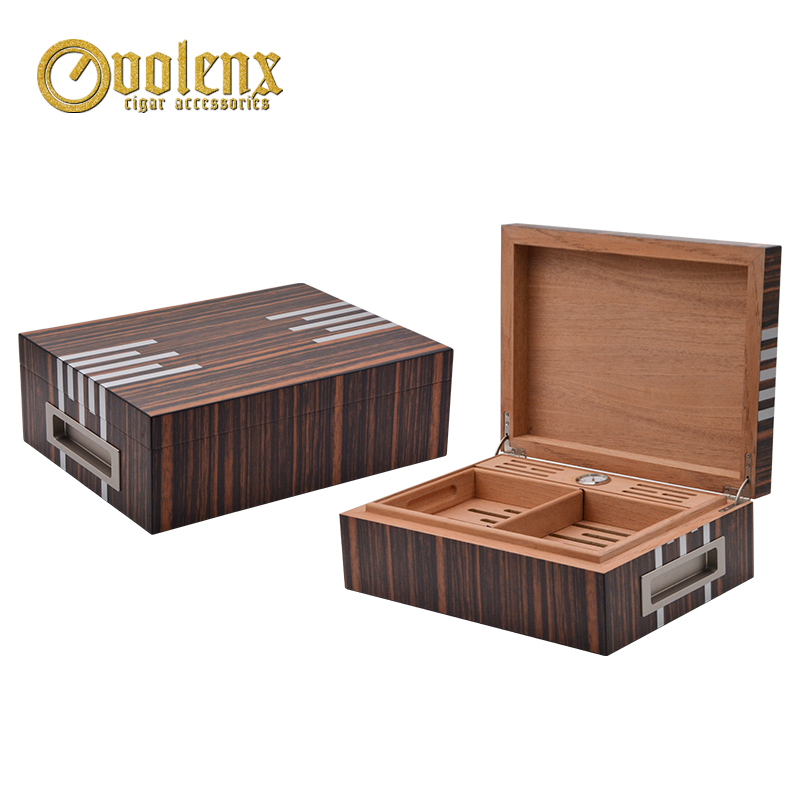 New Design Multi-functional luxury Cigar box, wooden Humidor with high quality