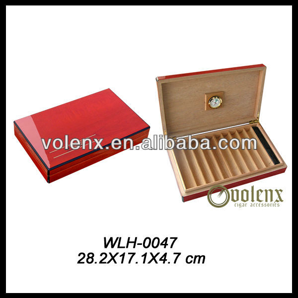 High Quality Personalized 10 Cigar Travel Humidor