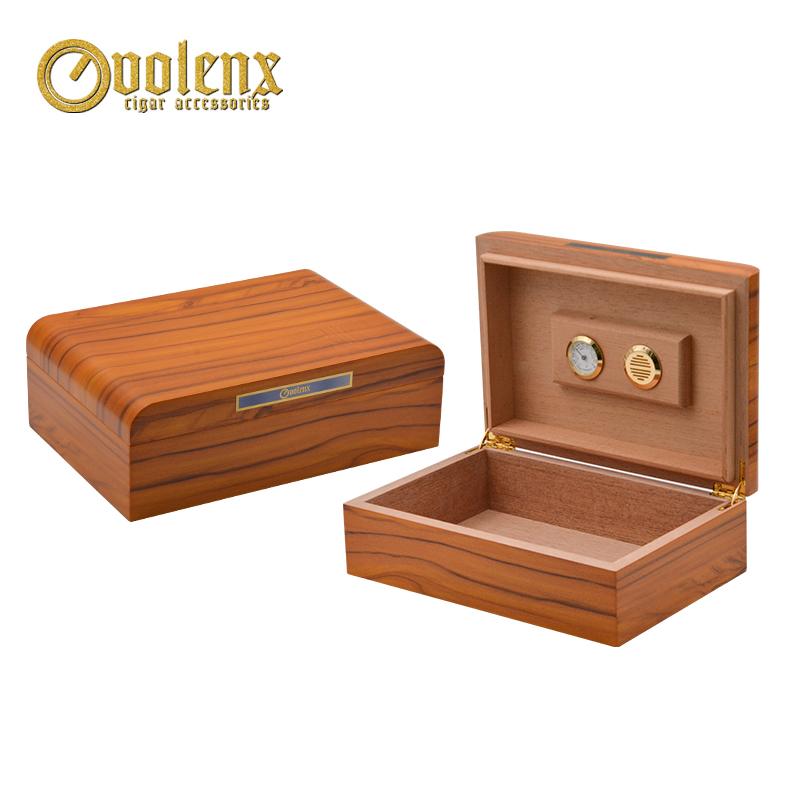New Design Portable Cuban Crafters Burl Wood Cigar Humidor