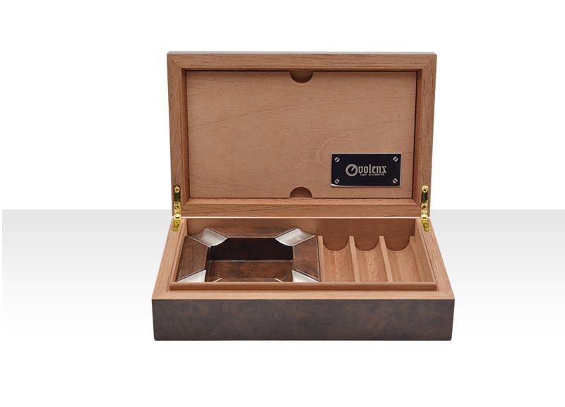 Special Hinges Cigar Humidor Gift Set, Wood Cigar Ashtray With 3 Count Cigar Tray 3