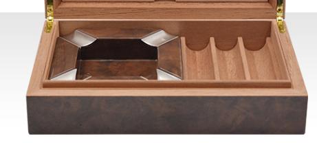 Wood Cigar Ashtray With 3 Count Cigar Tray 5