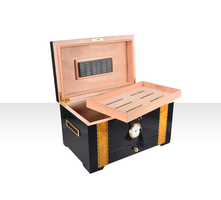 Cigar Humidor Custom Handmade Mahogany High Glossy Finish for 50-75 count cigar 7