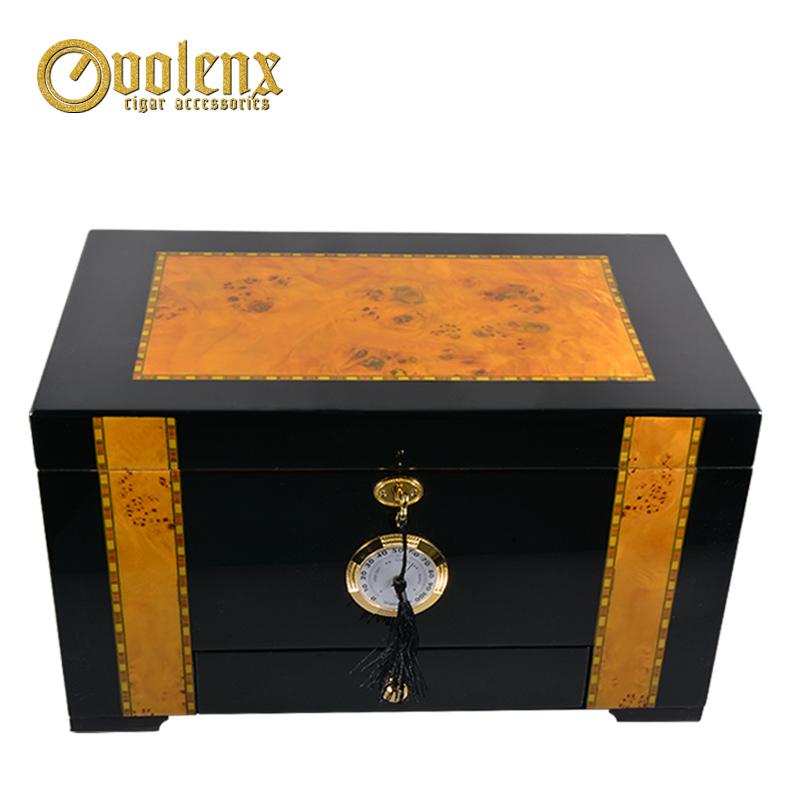 High-Glossy-Mahogany-Veneer-Wood-Cigar-Humidor