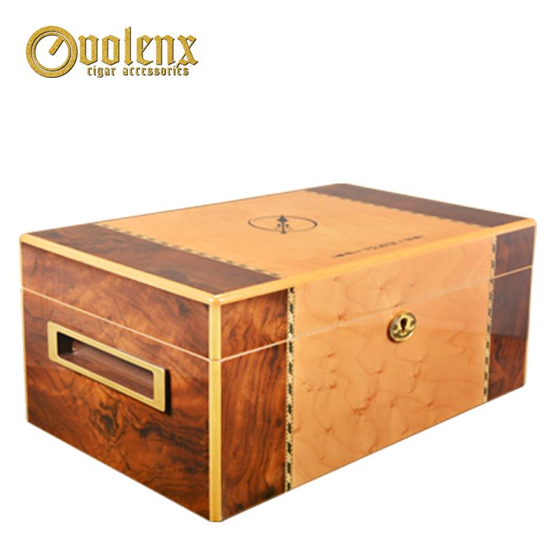 Piano-burl-grain-walnut-veneer-wooden-cigar
