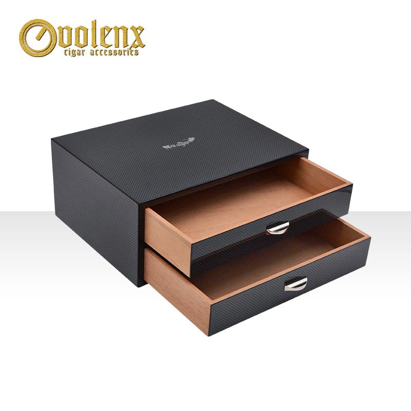 carbon fiber cigar slide box WLH-0179 Details