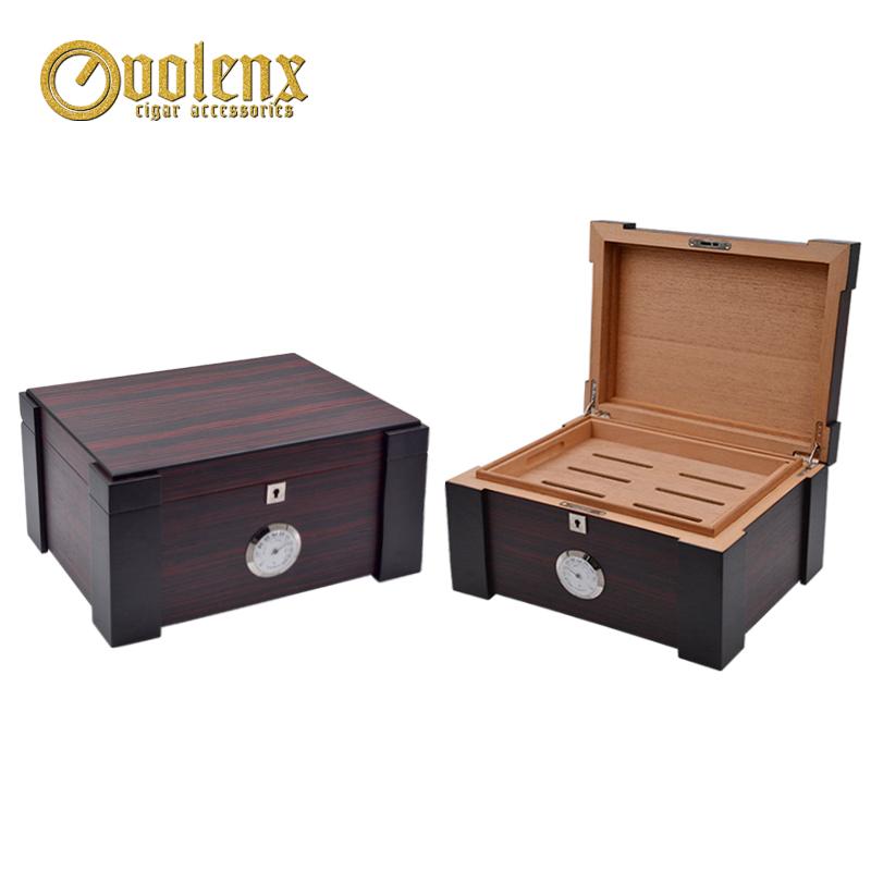 2018 Hot Sale Matt Wooden Cigar Box Humidor For Sale