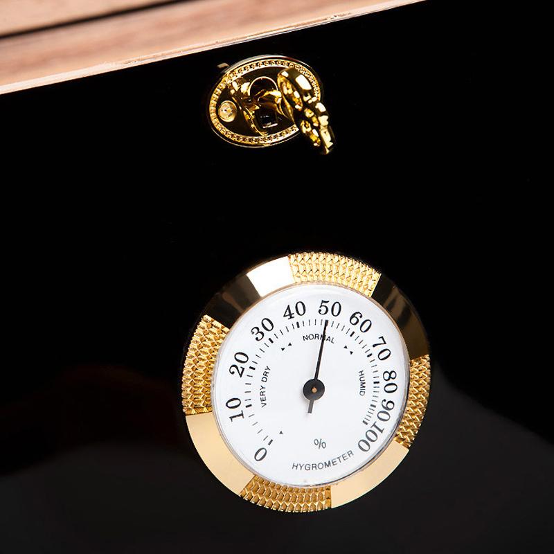 Classical Veneer Inlay Design 50-75 Count Cigars wood cigar humidor boxes 5