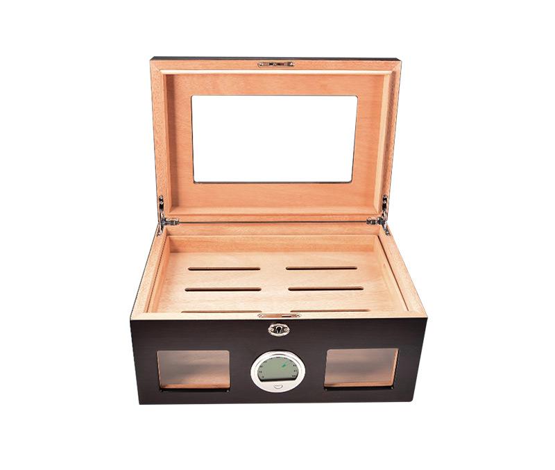 glasstop cigar boxes WLHG-0007-Black Details 6