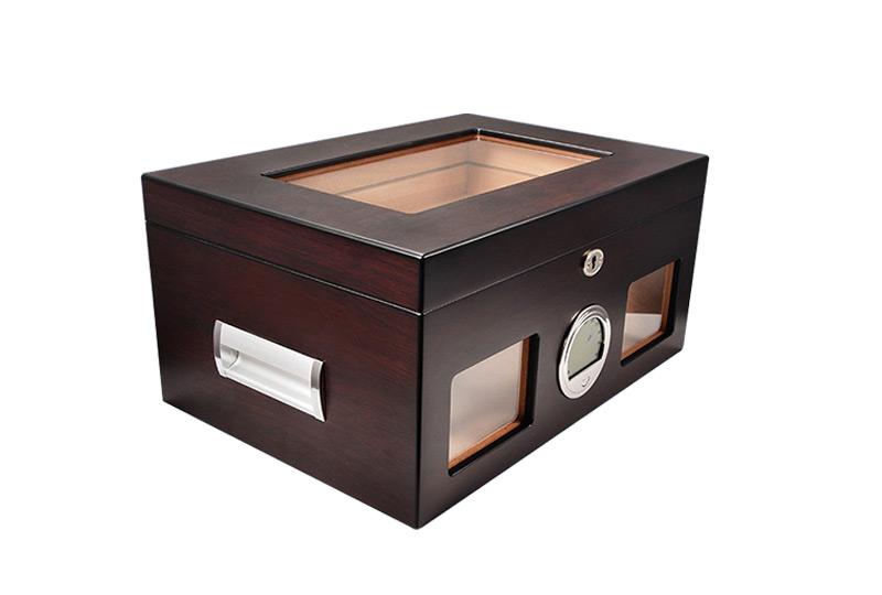 glasstop cigar boxes WLHG-0007-Black Details 8