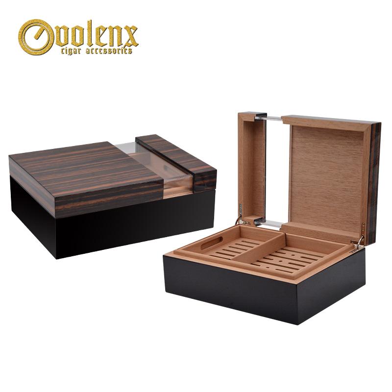 New design Acrylic top hign glossy custom Cigar Humidor box