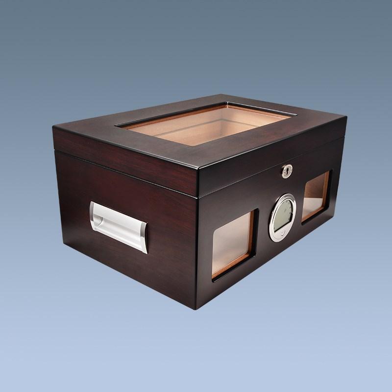 Plexiglass custom wooden cedar cigar boxes for sale 3