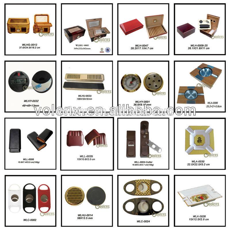 Quality Chinese Products Mahogany Veneer Cigars Box Uk Glass Door Cigar Humidor 11