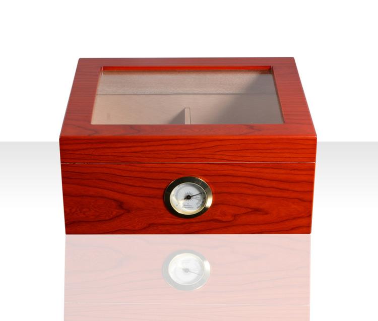 Quality chinese products Mahogany veneer cigars box uk glass door cigar humidor 9