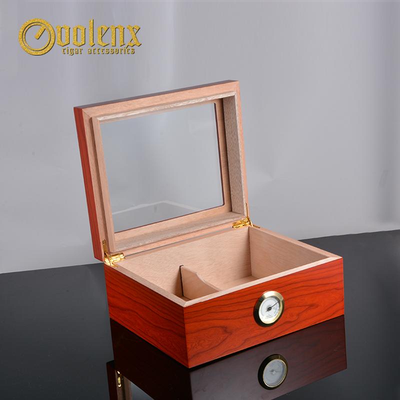 Tempered-glass-top-quality-cigar-humidor-mahogany