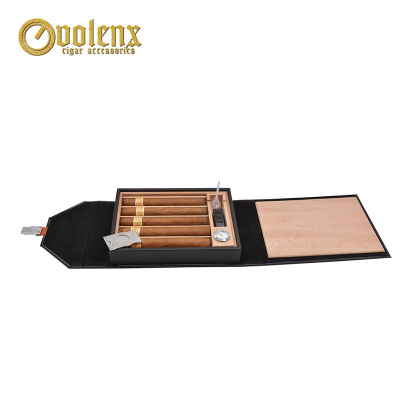 Hot-Sale-Black-PU-Leather-Cigar-Box
