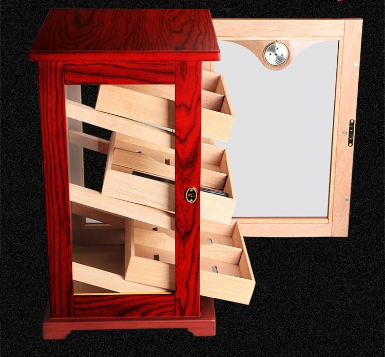 Hot sale factory handmade humidor wood cabinet wholesale humidor 9
