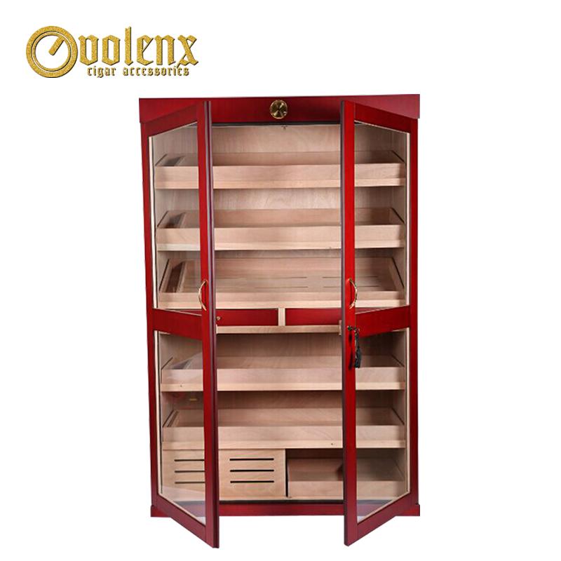 2-doors-wooden-cigar-display-cigar-cabinet