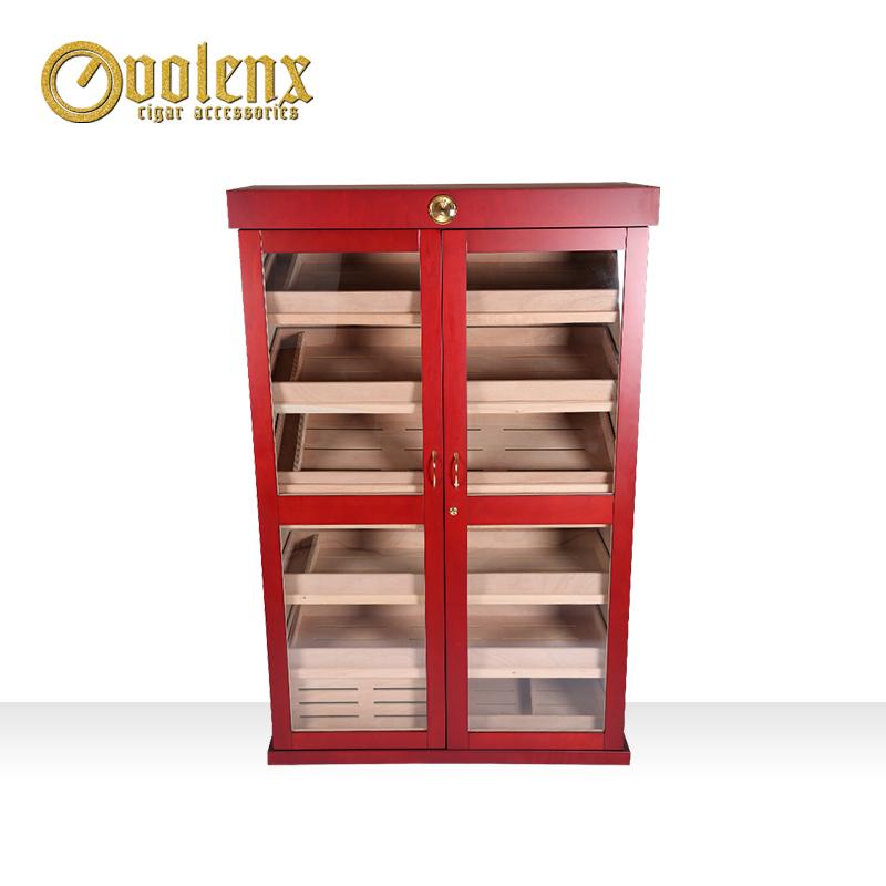 High-End-Cherry-Wooden-Cigar-Cabinet-Humidor