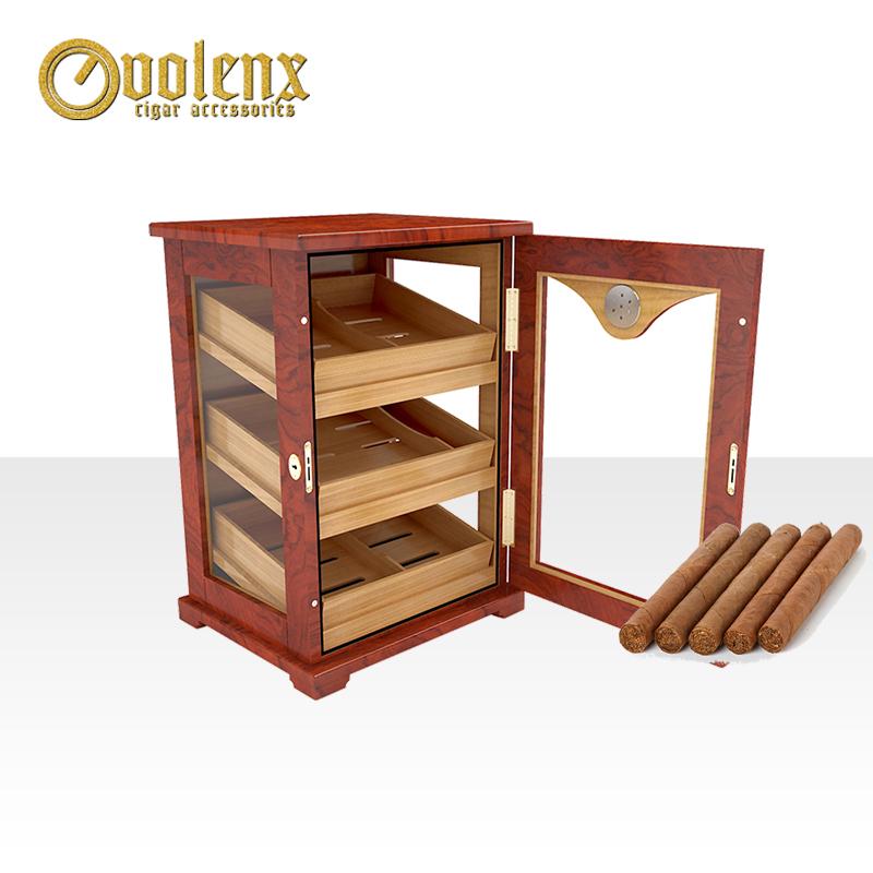 Premium-Glass-Wall-Wooden-Display-Cigar-Humidor