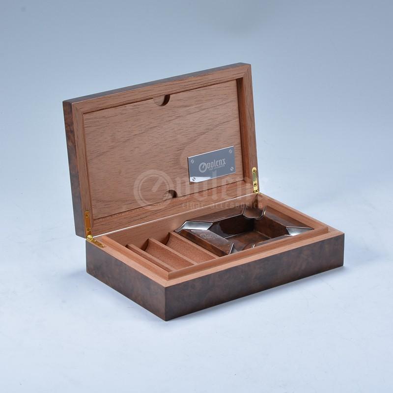 Custom new design wooden cigar display cabinet humidor 25