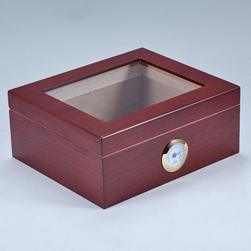Custom new design wooden cigar display cabinet humidor 21