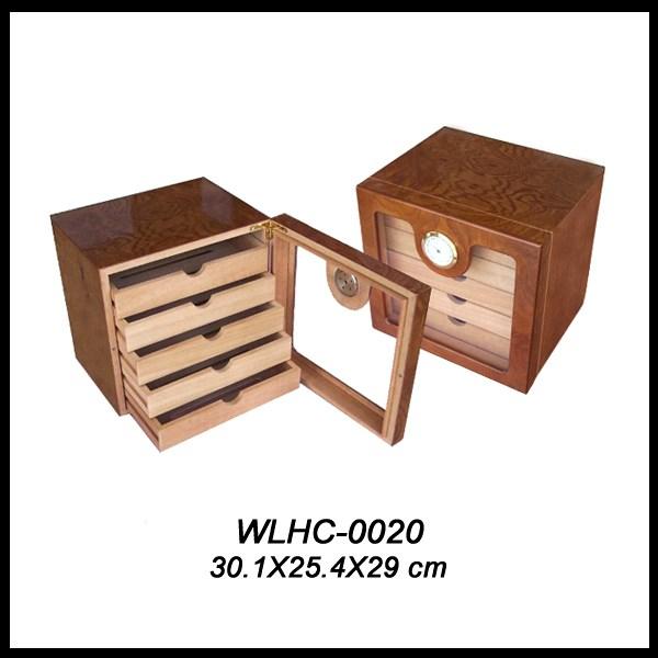 glass top cigar cabinet WLHC-0017 Details 7