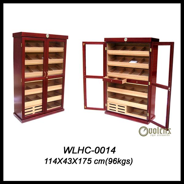 Custom Matt Wooden MDF Large Cigar Display Cabinet