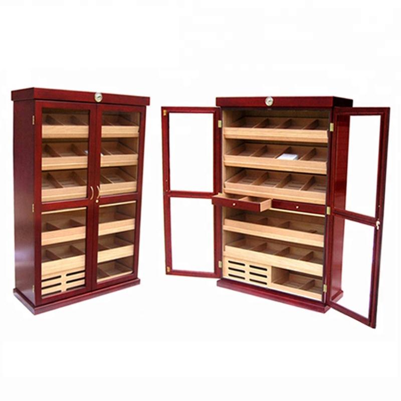 OEM Single Door Freestanding Large Cigar Humidor Cabinet 11