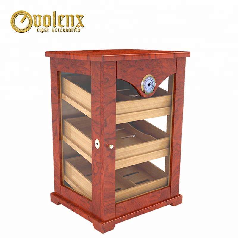 Display Large Storage Spanish Cedar Wood Cigar Humidors Cabinet