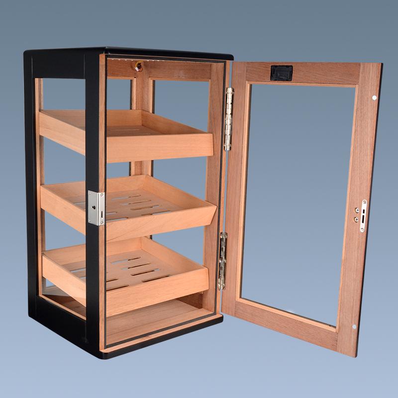 wooden cigar display cabinet WLHC-0025 Details 5