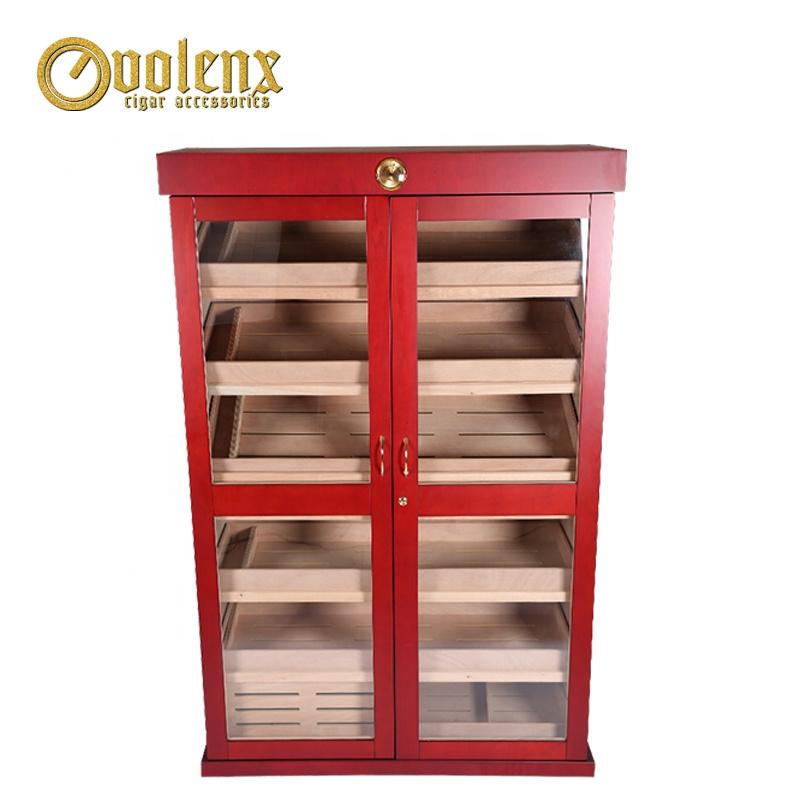 Luxurious-Humidor-Large-Electrical-Mohagony-Wood-Display