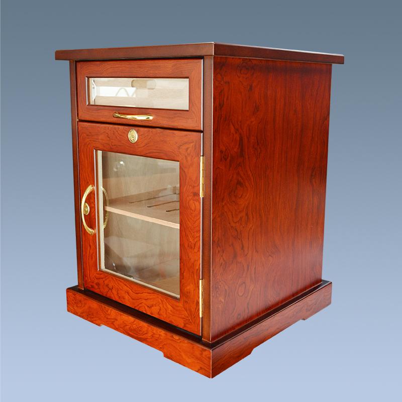 Hot Sale Small Wood Storage Display Cigar Humidor Cabinet