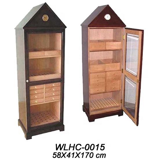 Luxury wooden cabinet cigar humidor, cigar box wholesale