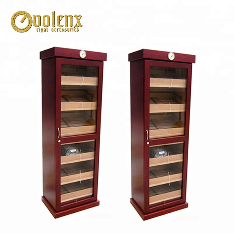 Floor Standing Glass Large Cigar Humidor Cabinet Supplier 3