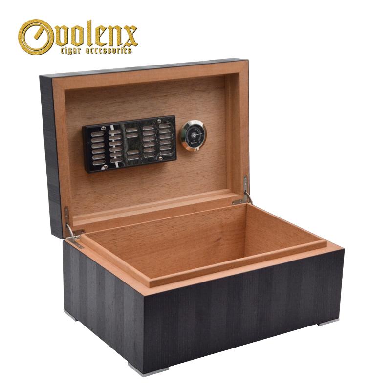 New Display luxury humidifier Wooden Cigar humidor Box 9