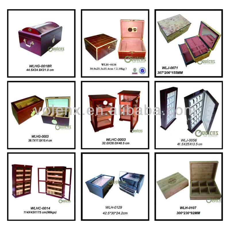 New Display luxury humidifier Wooden Cigar humidor Box 19