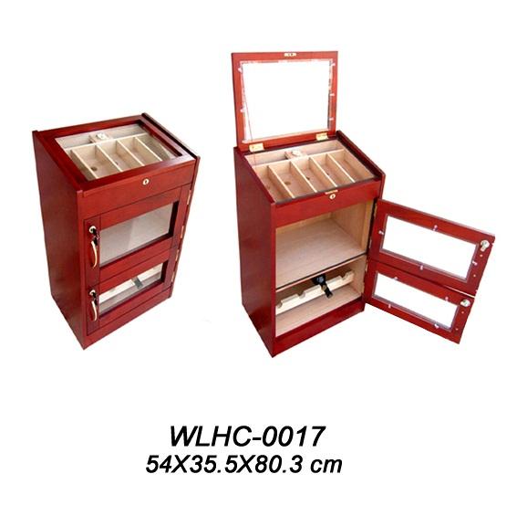 Large Mahogany Cigar Humidor Cabinet for Sale